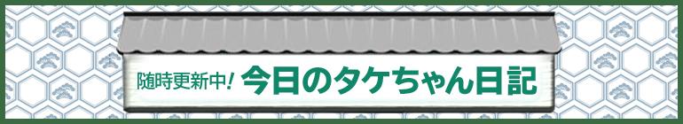 今日のタケちゃん日記