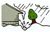 外壁や庭木などを傷めます。